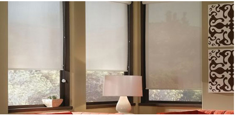Roller shade manual or motorized options available for Motorized blackout roller shades