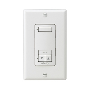 Somfy Decoflex 1 Channel Rts Wireless White Wall Switch