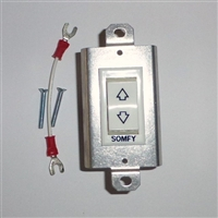 Somfy Maintained Rocker Switch Kit (White) 1800342 | Florida Automated Shade