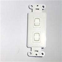 Double Decorator Momentary Wall Switch 1800425 | Florida Automated Shade