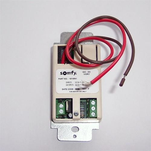 Somfy Decorator Igc 12 24 Vdc Ivory Wall Switch 1810541