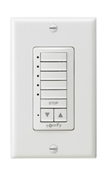 Somfy DecoFlex 5 Channel RTS Wirefree Wall  Switch White 1810813 | Florida Automated Shade