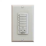 Somfy DecoFlex 5 Channel RTS Wireless Wall  Switch Ivory  1810814 | Florida Automated Shade
