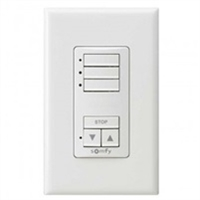 Somfy DecoFlex 3 Channel RTS Wireless  White Wall Switch 1811071 | Florida Automated Shade