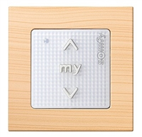 Somfy Smoove 1 RTS Surface Mount Control Switch Light Bamboo 9015027