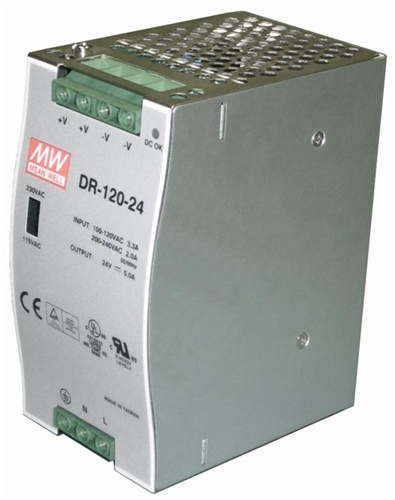 Somfy 24v Dc 5 Amp Din Rail Mount Transformer 9011994
