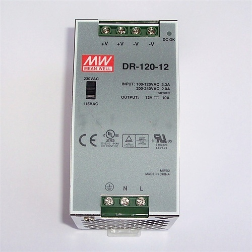 Somfy 12 Volt Dc 10 Amp Din Rail Mount Transformer 9014246