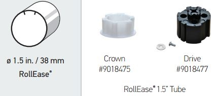 Somfy R28 Crown Amp Drive Adapter Kit For Rollease 1 5