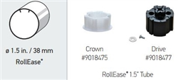 "Somfy R28 Crown & Drive Adapter Kit for Rollease 1.5"" Shade Tubes: 9018475-9018477"