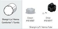 Somfy R28 Crown & Drive Adapter Kit for Old Style Shangri-La/ Vienna, Comfortex/ Turnils Shade Tubes: 9018587 9018597