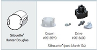 Somfy Crown & Drive Adapter Kit for Silhouette Hunter Douglas 9018590-9018600