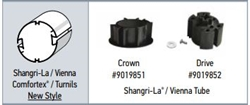 Somfy R28 Crown & Drive Adapter Kit for Shangri-La / Vienna Comfortex® / Turnils New Style