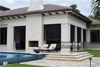FAS Fenetex Motorized Hurricane Screen | Miami Dade County and State of Florida Approved | Florida Automated Shade