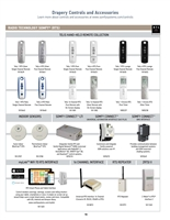 Somfy Glydea Drapery Controls and Accessories PDF P16-17 | Florida Automated Shade
