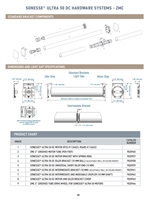 Sonesse Ultra 50 DC Motor Hardware Systems ZMC Selection Guide P22-24 |  Florida Automated Shade